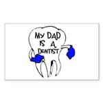 My dad is a Dentist Rectangle Sticker 10 pk)