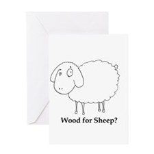 Wood for Sheep Greeting Card