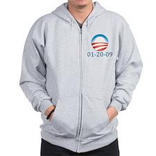 Barack Obama 01 20 09 Zip Hoodie