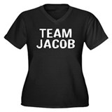 Team Jacob(White) Women's Plus Size V-Neck Dark T-