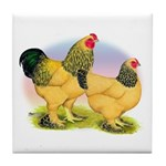 Buff Brahmas2 Tile Coaster
