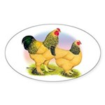 Buff Brahmas2 Oval Sticker