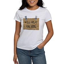 WILL BELAY FOR BEER Tee