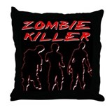 Zombie Killer Throw Pillow