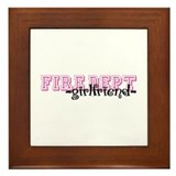 Fire Dept Girlfriend Jersey Sty Framed Tile