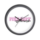 Fire Dept Girlfriend Jersey Sty Wall Clock