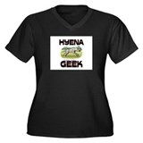 Hyena Geek Women's Plus Size V-Neck Dark T-Shirt