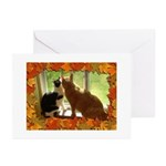 Orange Tabby Cats and Kittens Greeting Cards (Pk o