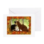 Orange Tabby Cats and Kittens Greeting Card