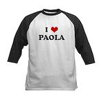 I Love PAOLA Kids Baseball Jersey