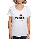 I Love PAOLA Women's V-Neck T-Shirt