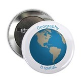 "Geography is Spatial 2.25"" Button"