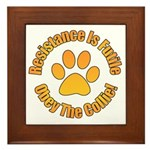 Collie Framed Tile