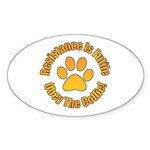 Collie Sticker (Oval 50 pk)