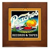 Peaches Records & Tapes Framed Tile