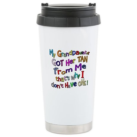 My Granddaughter got her Tan Ceramic Travel Mug