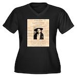 J.B. Hickock Women's Plus Size V-Neck Dark T-Shirt