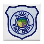 Kauai Fire Department Tile Coaster