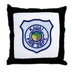 Kauai Fire Department Throw Pillow