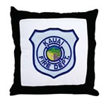 Kauai Fire Department Throw Pillow
