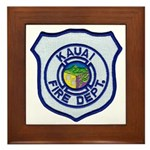 Kauai Fire Department Framed Tile
