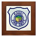 Kauai Fire Department Framed Tile