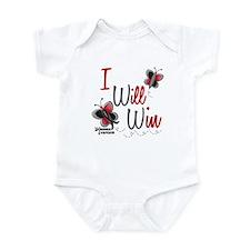 I Will Win 1 Butterfly 2 MELANOMA Infant Bodysuit