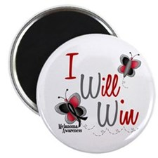 "I Will Win 1 Butterfly 2 MELANOMA 2.25"" Magnet (10"