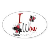 I Won 1 Butterfly 2 MELANOMA Oval Decal
