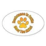 Akita Sticker (Oval 10 pk)