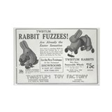 Antique ad: Rabbit Fuzzees Rectangle Magnet