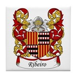 Ribeiro Family Crest Tile Coaster