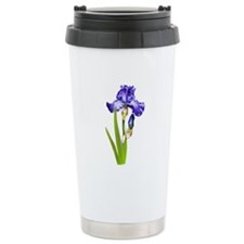 Purple Iris Ceramic Travel Mug