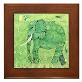 Elephant 1. Framed Tile