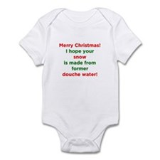 Christmas Douche Water Infant Bodysuit