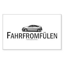Toyota Prius Hybrid: Fahrfromfülen Decal