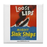 Loose Lips Tile Coaster