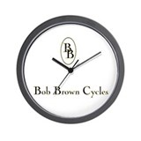 Cute Bob brown Wall Clock
