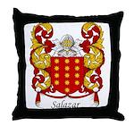 Salazar Family Crest Throw Pillow