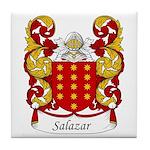Salazar Family Crest Tile Coaster