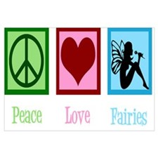 Peace Love 1960 Modern Wall Clock