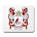 Santiago Family Crest Mousepad