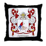 Santiago Family Crest Throw Pillow