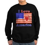 Heart America Flag Sweatshirt (dark)