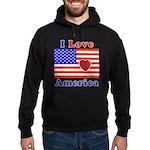 Heart America Flag Hoodie (dark)