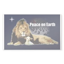Peace on Earth for the Religi Sticker (Rectangular