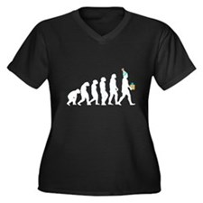 Evolution of Birthday Women's Plus Size V-Neck Dar