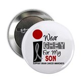 "I Wear Grey For My Son 2.25"" Button"