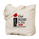 I Wear Grey For My Son Tote Bag