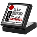I Wear Grey For My Daughter 9 Keepsake Box